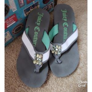 Juicy Couture flip flop wedges